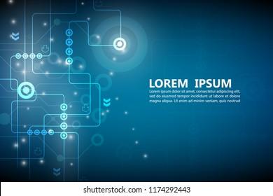 technology network line pattern vector background