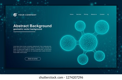 Technology, science, futuristic background for website designs. Abstract, modern background for your landing page design.