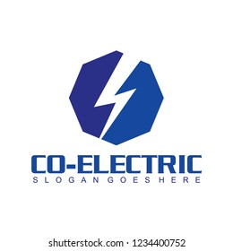 technology solusion and eletric logo design