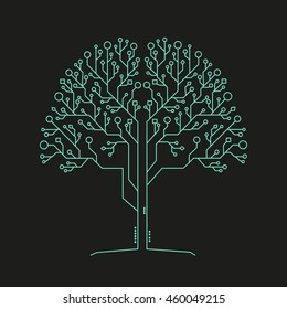 Technology tree of life background for business