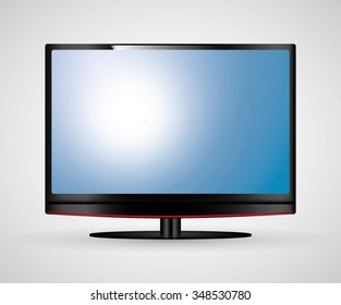 Technology TV screen graphic icon design, vector illustration eps10