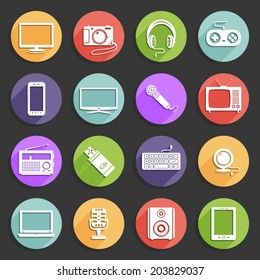 Technology vector icons