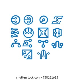 technology vector logo template design