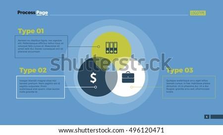 Technology Venn Diagram Slide Template Stock Vector Royalty Free