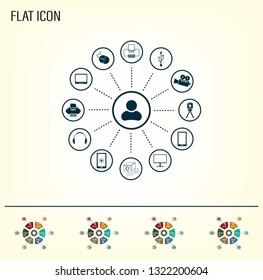 technology web icons set