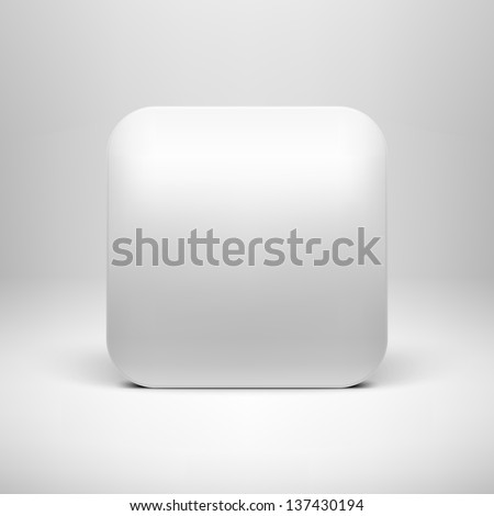 Technology White Blank App Icon Button Stock Vector (Royalty Free ...