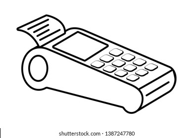 Technology work office dataphone isolated black and white