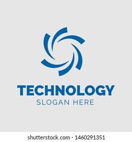 Tecnology Logo Flat Design Inspiration