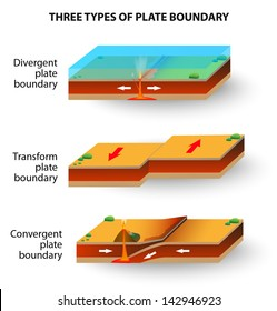 tectonic plate and volcano. cross-section. Vector illustration