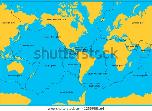 Tectonic Plates Map Illustrator Stock Vector (Royalty Free ... on buenos aires map, internet map, word map, world map, print map,