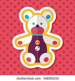 giraffe toy web icon vector web stock vector royalty free