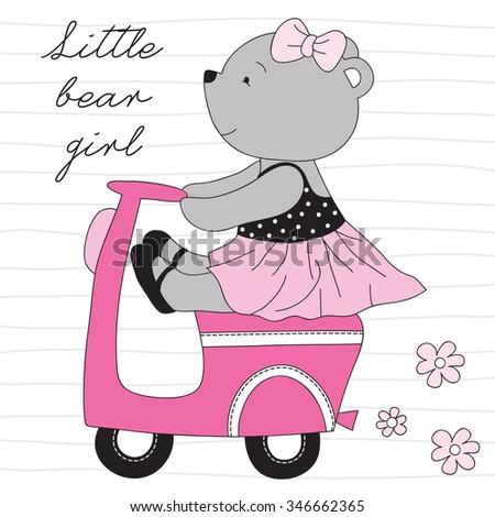 Event Girl rides teddy bear