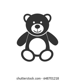 Teddy bear icon character isolated on white background. Soft toy icon vector illustration.