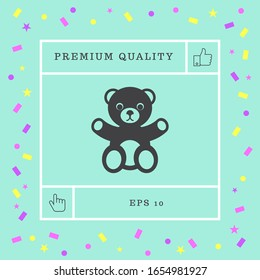 Teddybär-Ikone. Grafische Elemente für Ihr Design