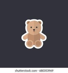 teddy bear icon, sticker
