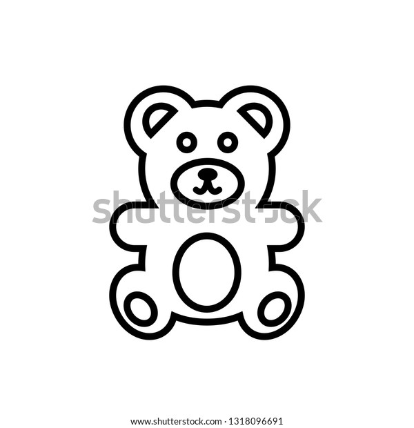 teddy bear icon vector illustration flat stock vector royalty free 1318096691 https www shutterstock com image vector teddy bear icon vector illustration flat 1318096691