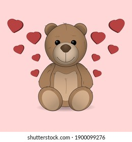 teddy bear love heart cute love gift valentine's day hearts