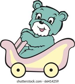 Teddy Bear Roller Coaster Rider Aqua Blue