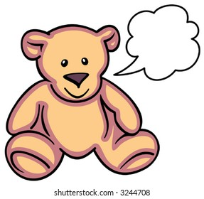 Teddy Bear - Vector Illustration