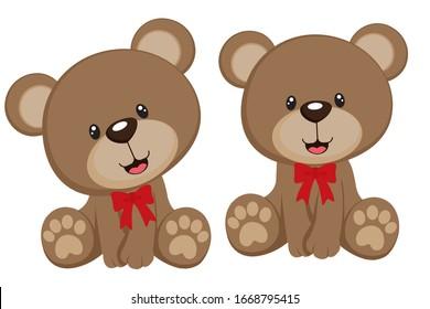 Teddy bear A vector illustration of a cute cartoon teddy bear waving hand