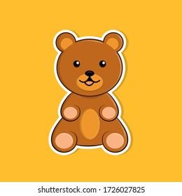 Teddy bear vector illustration design