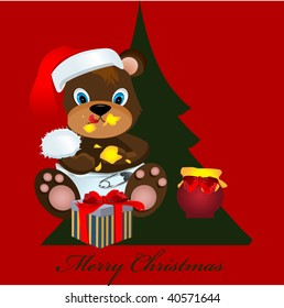 teddy christmas greeting