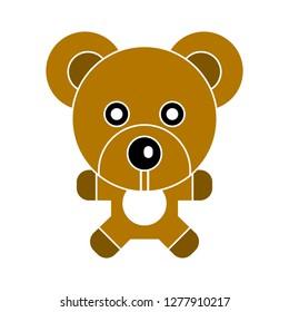 teddy-bear icon - teddy-bear toy isolated, cute teddy-bear illustration- Vector bear toy