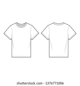 TEE fashion flat sketch template