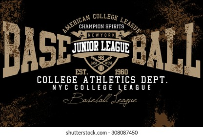 tee graphics,brooklyn college graphics for t-shirt,baseball graphics