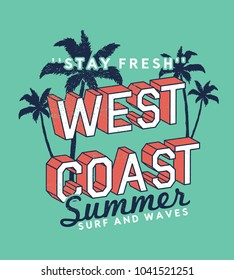 tee print design as vector with summer style