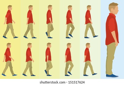 Teen Boy Walking Cycle