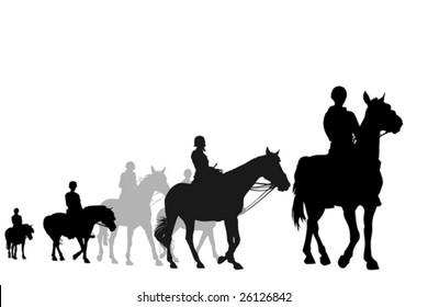 teens on horseback riding trip