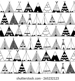 Teepee native american summer tent illustration in vector