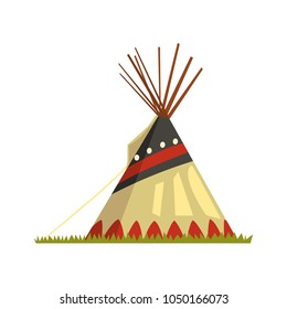Teepee, tent or wigwam Native American dwelling vector Illustrationon a white background