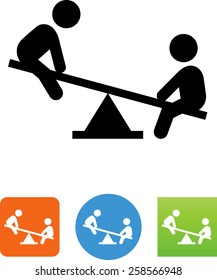 Teeter totter / Playground / Kids playing icon