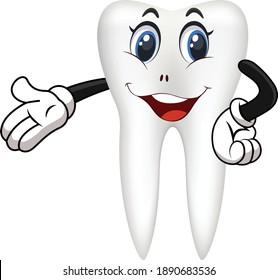 Teeth cartoon vector art and illustration