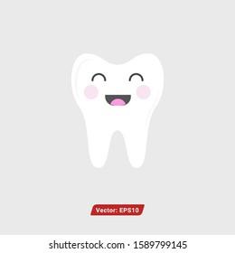 teeth cartoon vector. smile dental care