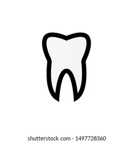Teeth dentist flat vector sign symbol icon for mobile and web user interface