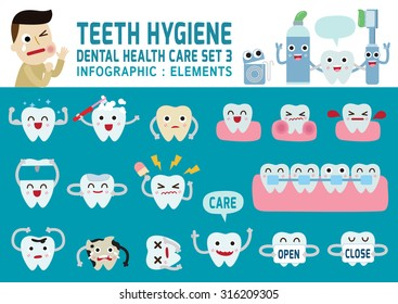 teeth hygiene.dental health care concept.infographic elements.