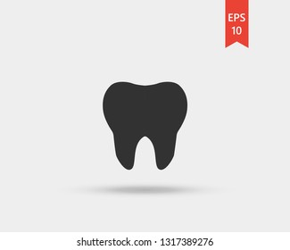 Teeth icon. Realistic Tooth Poster Transperent Stomatology Icon