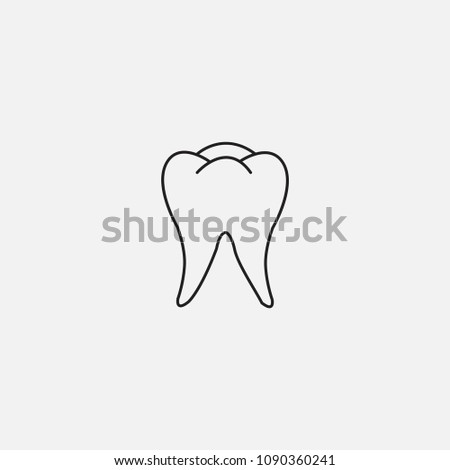 Teeth Icon Template Design Stock Vector Royalty Free 1090360241
