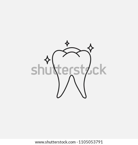 Teeth Icon Template Design Stock Vector Royalty Free 1105053791