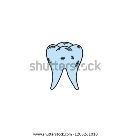 Teeth Icon Template Design Stock Vector Royalty Free 1205261818