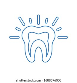 Teeth pain outline icon, tooth problem