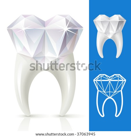 Teeth Strong Diamond Stock Vector Royalty Free 37063945 Shutterstock