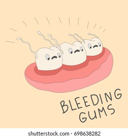 Teeth were scared of bleeding gums