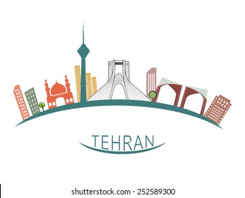 Tehran city illustration