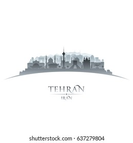 Tehran Iran city skyline silhouette. Vector illustration