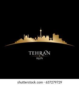 Tehran Iran skyline Detailed vector silhouette