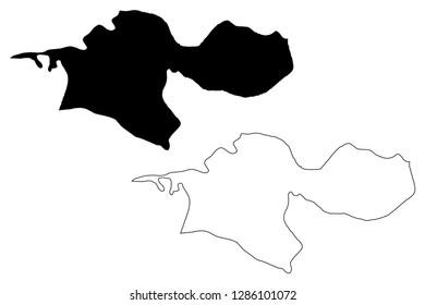 Tehran Province (Provinces of Iran, Islamic Republic of Iran, Persia) map vector illustration, scribble sketch Tehran map